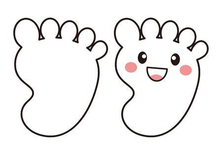 Foot Back Character Vector Illustration 向量圖像