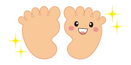 Foot Back Character Vector Illustration 向量圖像