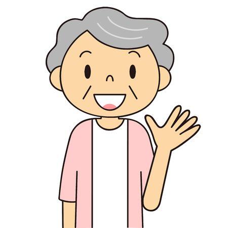 Illustration of senior generation [women' emotions and gestures Stock fotó - 135171535