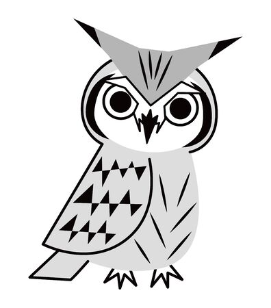 Owl Fashionable Konohazuku's Vector Illustration