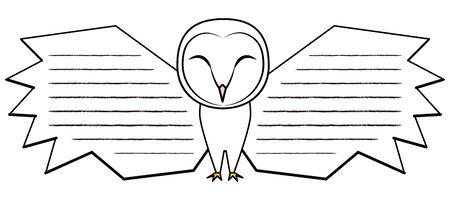 Owl Fashionable Men Owl Message Card Illustration