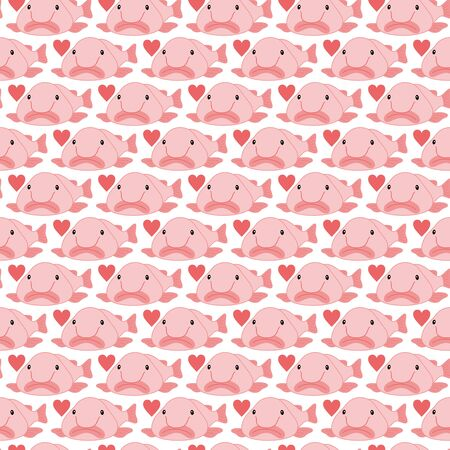 Blobfish Nuudodazika Pattern Background Material Vector Image