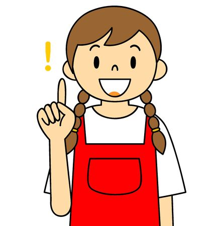 Illustration of a woman wearing an apron