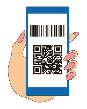 QR Code Barcode Payment Vector Illustration