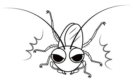 Cockroach Character Vector Illustration
