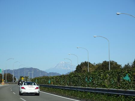 Photo of Mt. Fuji seen on the highway