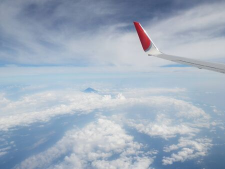 Photo of Mt. Fuji seen from the plane