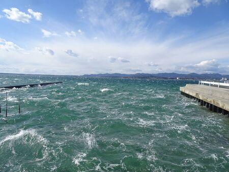 Lake Hamanas Rough Waves Photos