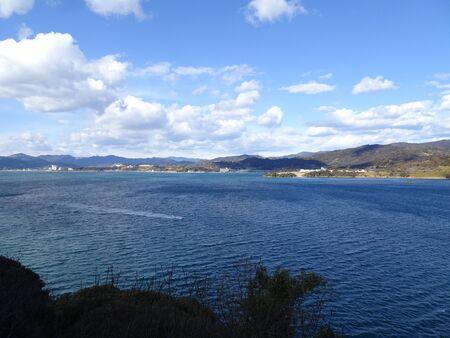 View from Tateyama Observatory in Lake Hamana Stok Fotoğraf