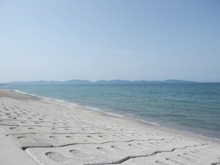 The Sea of Japan and Shimane Peninsula from the Coast of The Sea of Japan Stok Fotoğraf