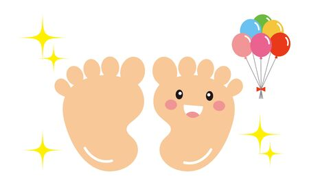 Foot Back Character Vector Illustration Illustration