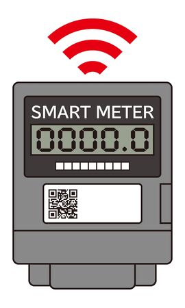 Smart Meter Icon Illustration Vector Illustration