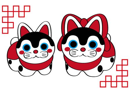 Cute Shiba Inu Illustration Vector Çizim