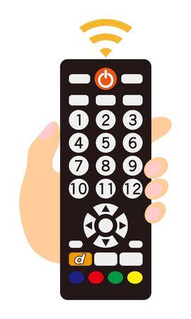 TV Remote Control Illustration Vector  イラスト・ベクター素材