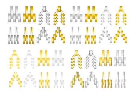 Paper Soped Illustration Set Vector