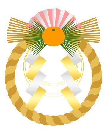 Shime-nawa Ornament Illustration Vector Ilustrace