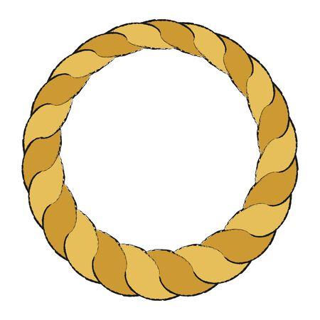 Shime-nawa Ornament Illustration Vector Stock Illustratie