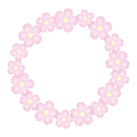 Cherry Blossoms Background Material Frame Illustration Vector