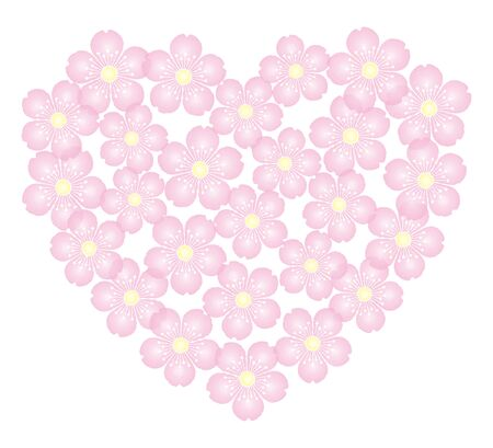 Cherry Blossoms Background Material Frame Coaster Illustration Vector
