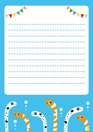 Chinanago Nishiki Anago Character Stationery Illustration