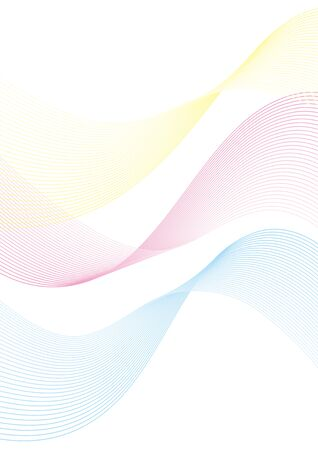 Background Material Ribbon Wave Design Vector  イラスト・ベクター素材