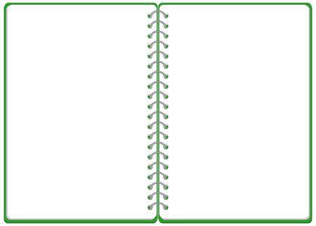 Sketchbook Ringnote Frame Illustration Vector