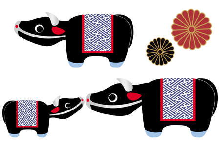 Cow Figurine Illustration Vector 矢量图像