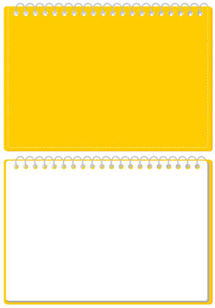 Sketchbook Ring Note Cover and Page Set Illustration Vector *Size of A4