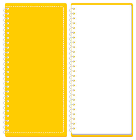 Sketchbook Ring Note Cover and Page Set Illustration Vector ※A4 Trifold Size Illustration