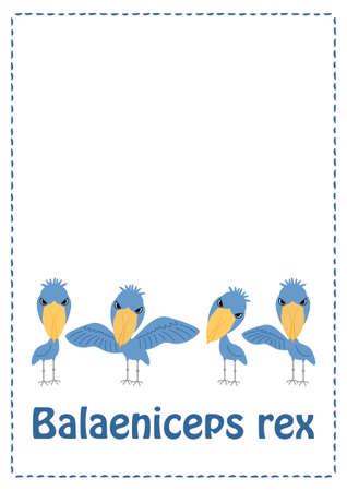 Habirokou Illustration Set (Postcard) Vector Illusztráció