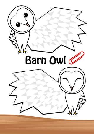 Owl Fashionable Men Owl Mini Letter Illustration Set (Postcard) Vector Illusztráció