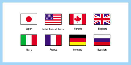 Set illustration of world flag G8 ※If you remove Russia, it will be G7 Vector by World flag G8 set illustration * If Russia is removed, it will be G7 Vector