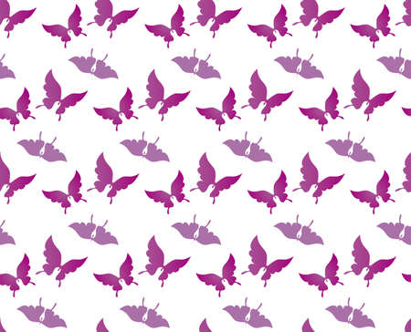 Butterfly Bald Bald Design Seamless Seamless Pattern Background Material Illustration Vector