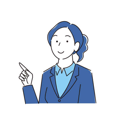 Pointing Smiling Woman Suit Moderately Simple Illustration Vector Pointing Smile Woman Suit Moderately simple illustration vector 向量圖像
