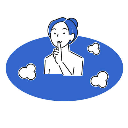 Young woman bathing quietly moderately simple illustration vector Young woman bathing quietly. Moderately simple illustration. vector.