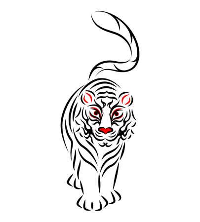 White Tiger White Tiger Illustration Japanese Traditional Performing Arts Kabuki Stage Makeup Kumadashi Design Vector by White tiger Illustration. Japanese Traditional Performing Arts. Kabuki Stage Makeup. Kumadori Design. Vector. Vector Illustratie