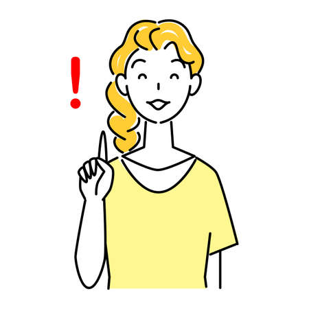 Pointing Pose Refreshing Woman Suggesting With Smile Illustration Simple Vector Pointing pose. A refreshing woman proposing with a smile. Simple illustration. vector.