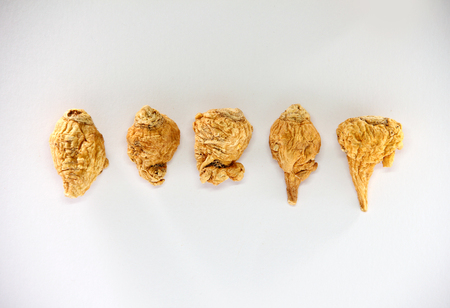 maca root  on white background