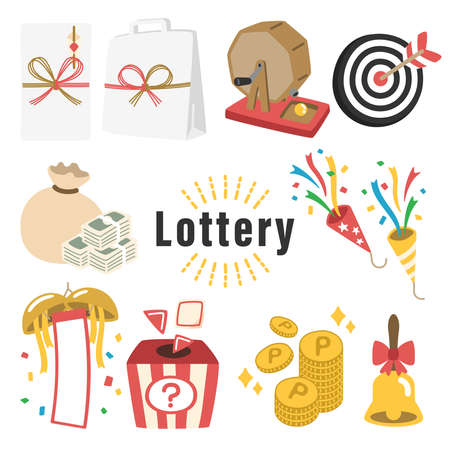 Clip art of a raffle, coin, cracker, etc. that can be used to advertise a point bonus sale or lottery event.