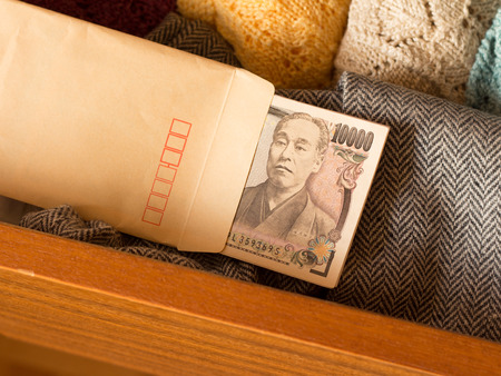 safekeeping: Keep money in the drawer to avoid tax called Tansu Yokin in Japanese