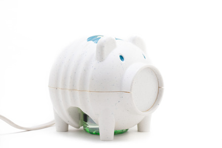 rid: Japanese pig like insecticide electric device on white isolate background Stock Photo