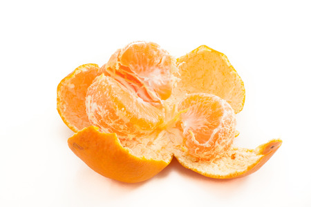 Japanese mandarin orange on white isolated background