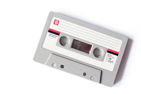 レトロなグレーと白のコンパクト カセット 写真素材