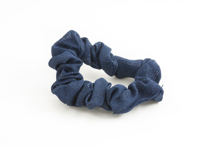 scrunchie: Scrunchy on white isolated background