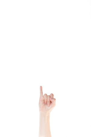 dedo meÑique: gesto de la mano japonesa: Novia, mujer, señora en el fondo blanco aislado