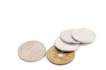 japanese currency: 8 % tax rate on Japanese currency Stock Photo