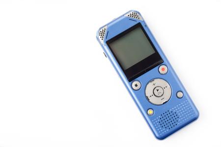 grabadora: grabadora IC en el fondo blanco del aislante