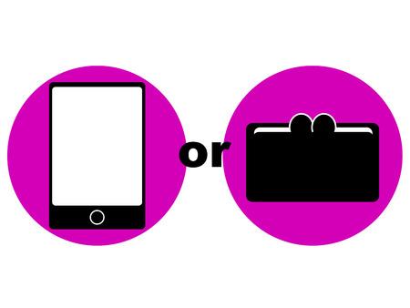 cashless: Concept graphic depicting cashless payment