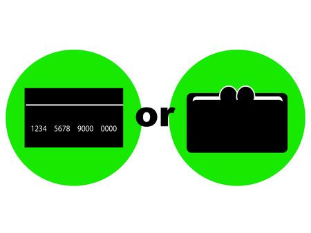 cashless payment: Concept graphic depicting cashless payment