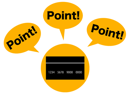 depicting: Concept graphic depicting the points of credit card Stock Photo